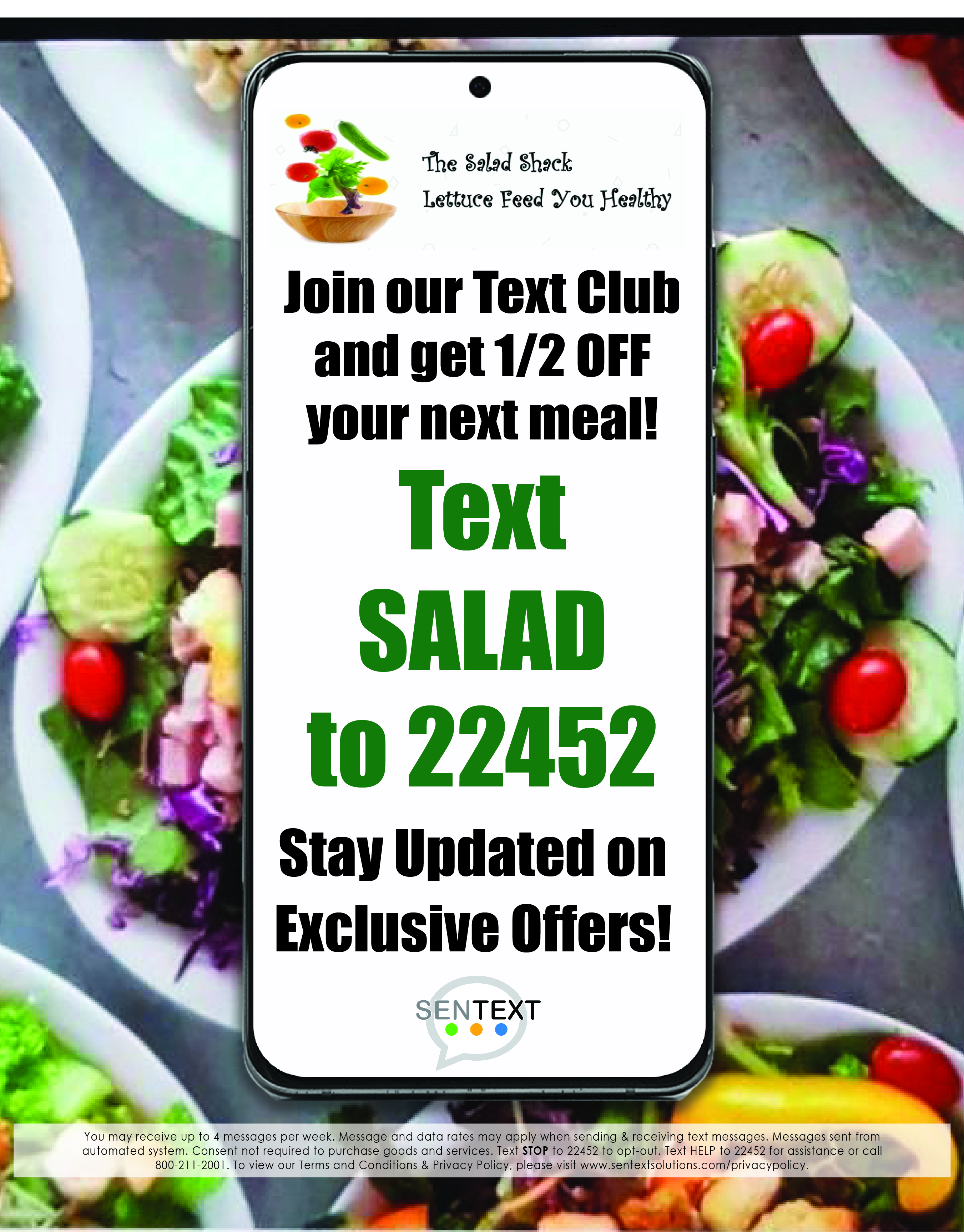 [ Text SALAD to 22452 ]
